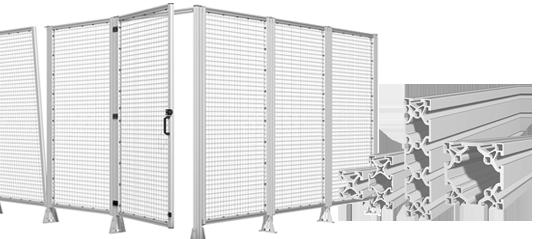 Robotunits aluminium fencing machine safety