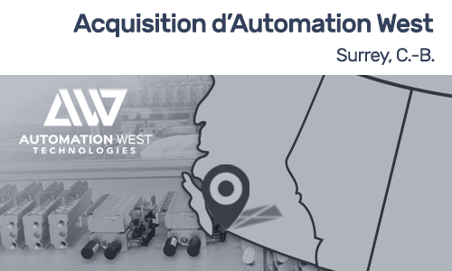 Acquisition d'Automation West par Proax Technologies février 2017 automatisation industrielle pneumatique robotique SMC