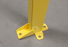 Troax steel post yellow