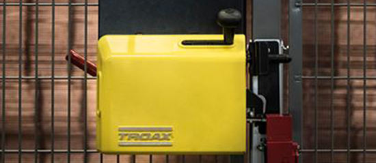 Troax Safe Lock yellow black mesh panels Proax Technologies safety machine guarding steel